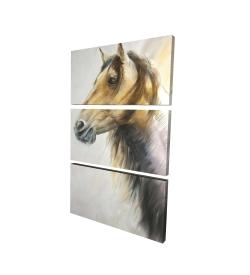Canvas 24 x 36 - 3D - Wild horse