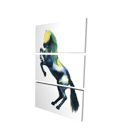 Canvas 24 x 36 - 3D - Greeting horse