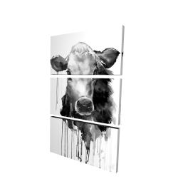 Canvas 24 x 36 - 3D - Jersey cow