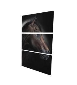 Canvas 24 x 36 - 3D - Loneliness horse
