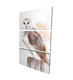 Canvas 24 x 36 - 3D - Barn owl