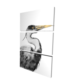 Canvas 24 x 36 - 3D - Great heron