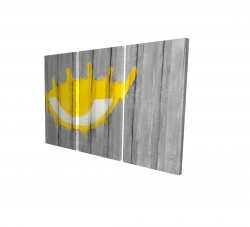 Canvas 24 x 36 - 3D - Yellow eye graffiti on a container