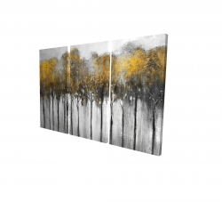 Canvas 24 x 36 - 3D - Abstract yellow forest