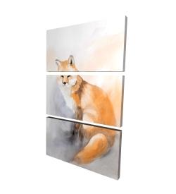 Canvas 24 x 36 - 3D - Watercolor fox