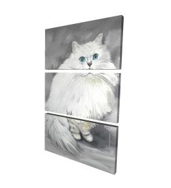 Canvas 24 x 36 - 3D - Chinchilla persian cat