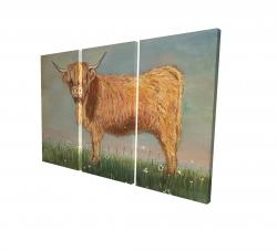Canvas 24 x 36 - 3D - Daisy the highland cow