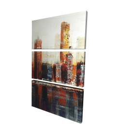 Canvas 24 x 36 - 3D - Abstract red cityscape