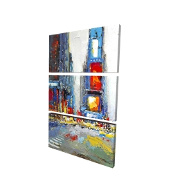 Canvas 24 x 36 - 3D - Abstract and colorful buildings