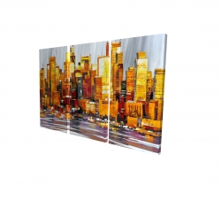 Canvas 24 x 36 - 3D - Orange buildings