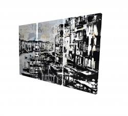 Canvas 24 x 36 - 3D - Abstract venise port