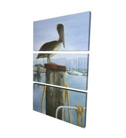 Canvas 24 x 36 - 3D - Pelican