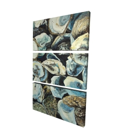 Canvas 24 x 36 - 3D - Oyster shells