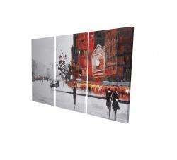 Canvas 24 x 36 - 3D - Classic street scene