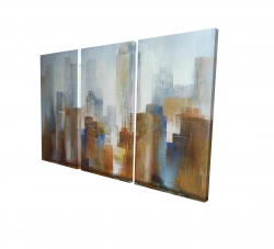 Canvas 24 x 36 - 3D - Cityscape in the fog
