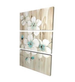 Canvas 24 x 36 - 3D - Cherry blossom in white