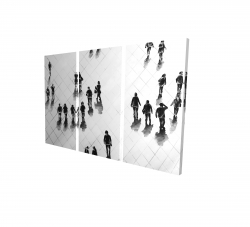 Canvas 24 x 36 - 3D - Overhead view of people on the street