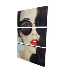 Canvas 24 x 36 - 3D - Fashionable sunglasses