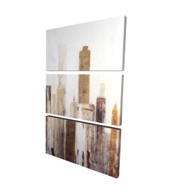 Canvas 24 x 36 - 3D - Abstract earthy tones city