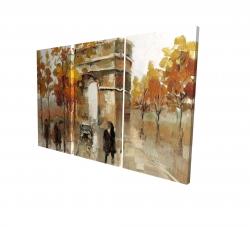 Canvas 24 x 36 - 3D - Arc de triomphe in autumn