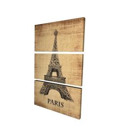 Canvas 24 x 36 - 3D - Eiffel tower illustration