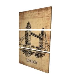 Canvas 24 x 36 - 3D - Tower bridge illustration