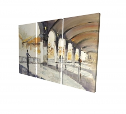Canvas 24 x 36 - 3D - People in a spacious hall