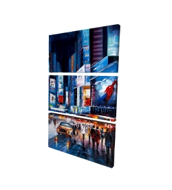 Canvas 24 x 36 - 3D - Times square perspective