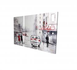 Canvas 24 x 36 - 3D - Peaceful street scene