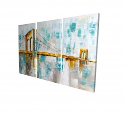 Canvas 24 x 36 - 3D - Brooklyn bridge
