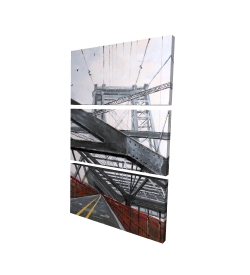Canvas 40 x 60 - 3D - Bridge architecture