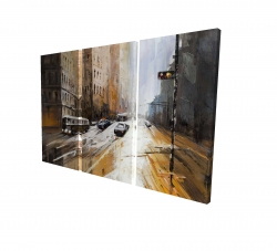 Canvas 24 x 36 - 3D - Abstract city street