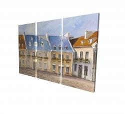 Canvas 24 x 36 - 3D - Old quebec city