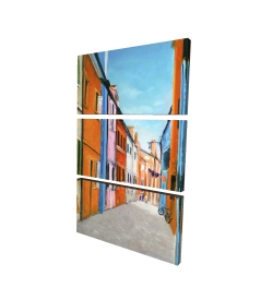 Canvas 24 x 36 - 3D - Colorful houses in italy