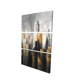 Canvas 24 x 36 - 3D - Abstract skyline