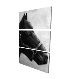 Canvas 24 x 36 - 3D - Gallopin the horse