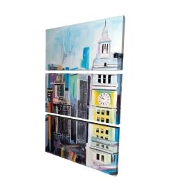 Canvas 24 x 36 - 3D - Colorful cityscape of manhattan