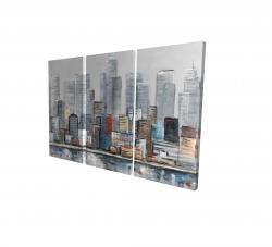 Canvas 24 x 36 - 3D - Abstract city skyline