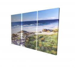 Canvas 24 x 36 - 3D - Walk to the beach
