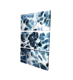 Canvas 24 x 36 - 3D - Stormy waves of the sea