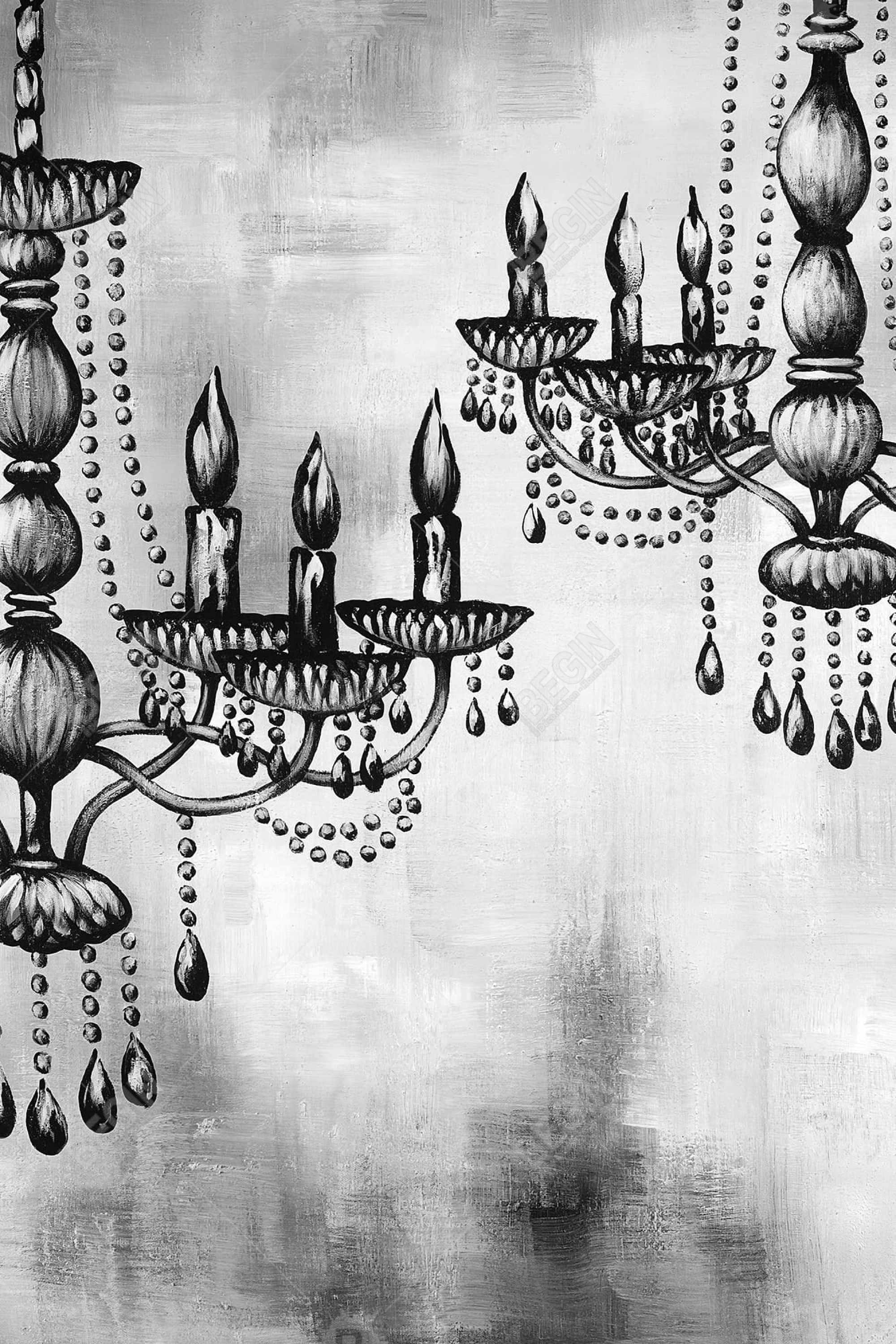Two crystal chandeliers 1