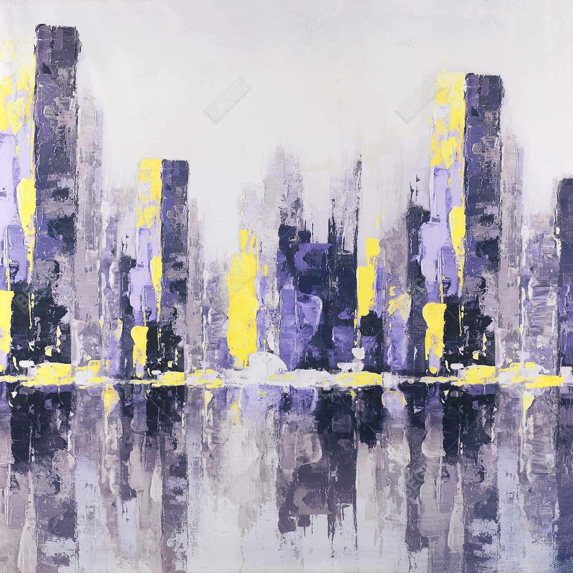 Ville abstraite et floue
