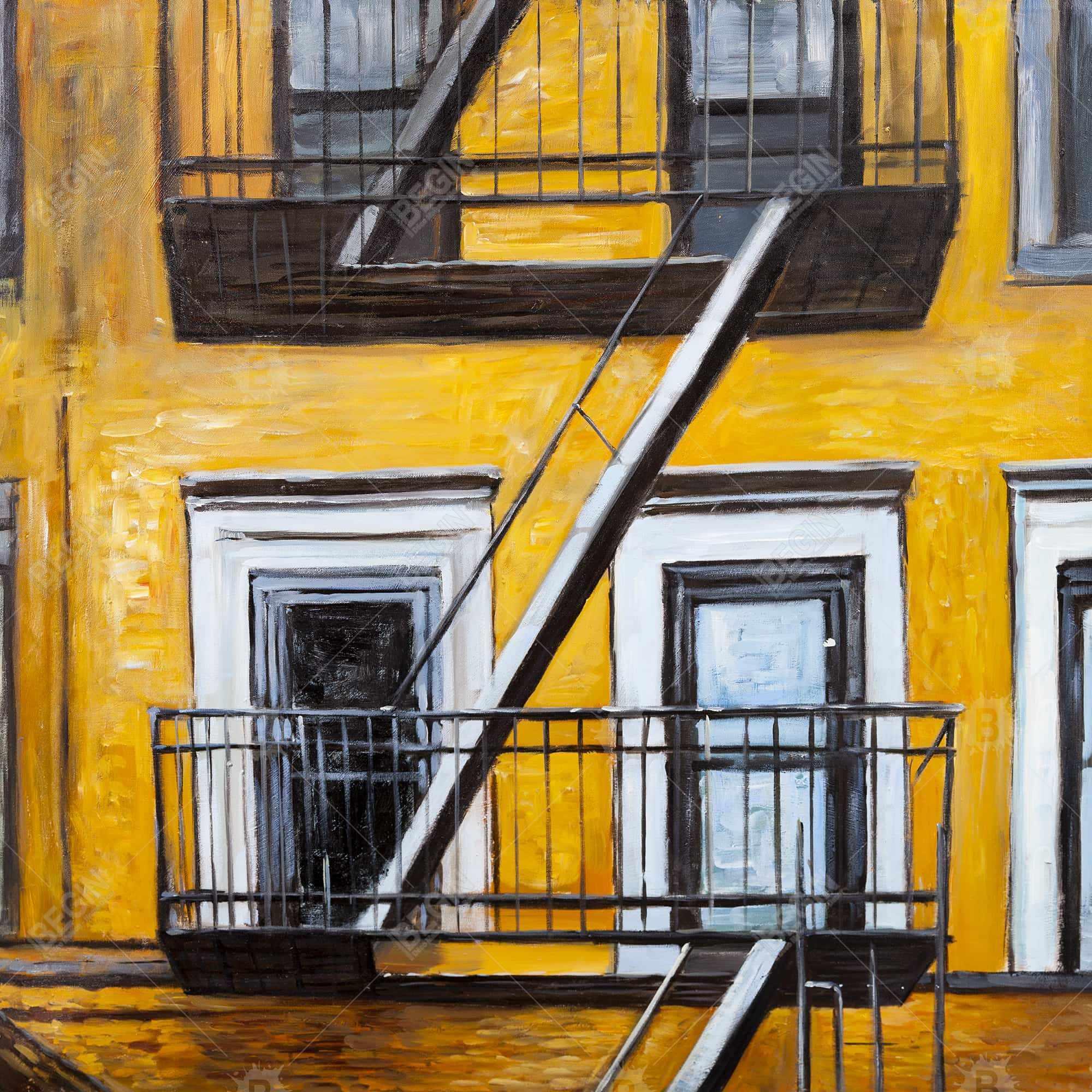 Building old fire escape