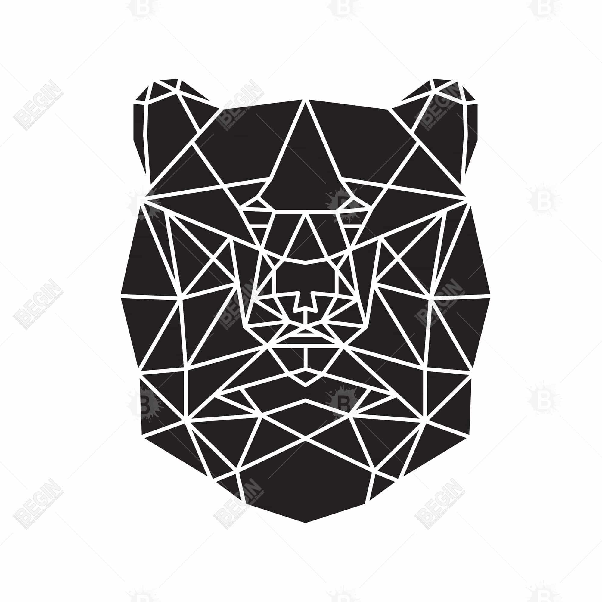 Geometric bear head