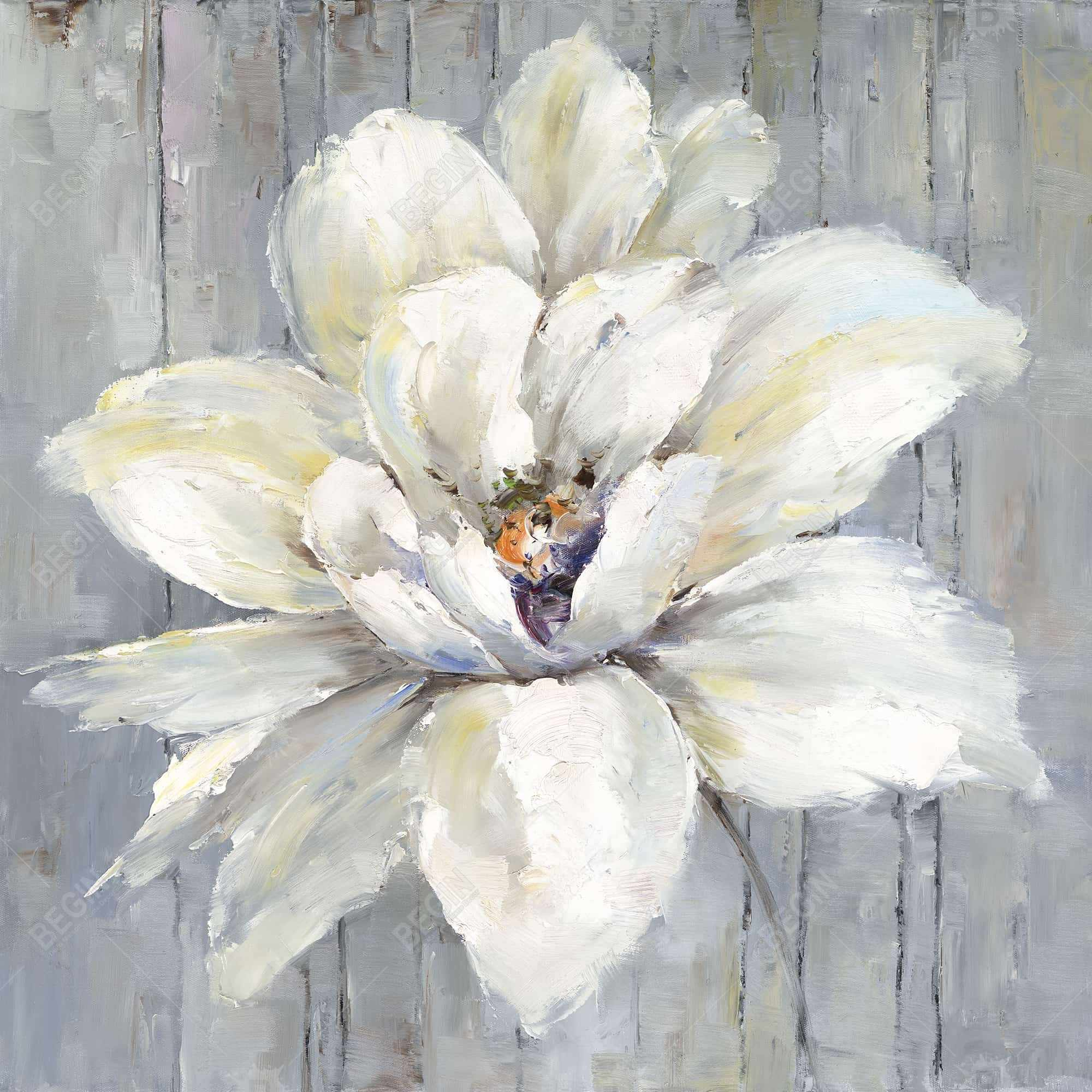 White flower on wood