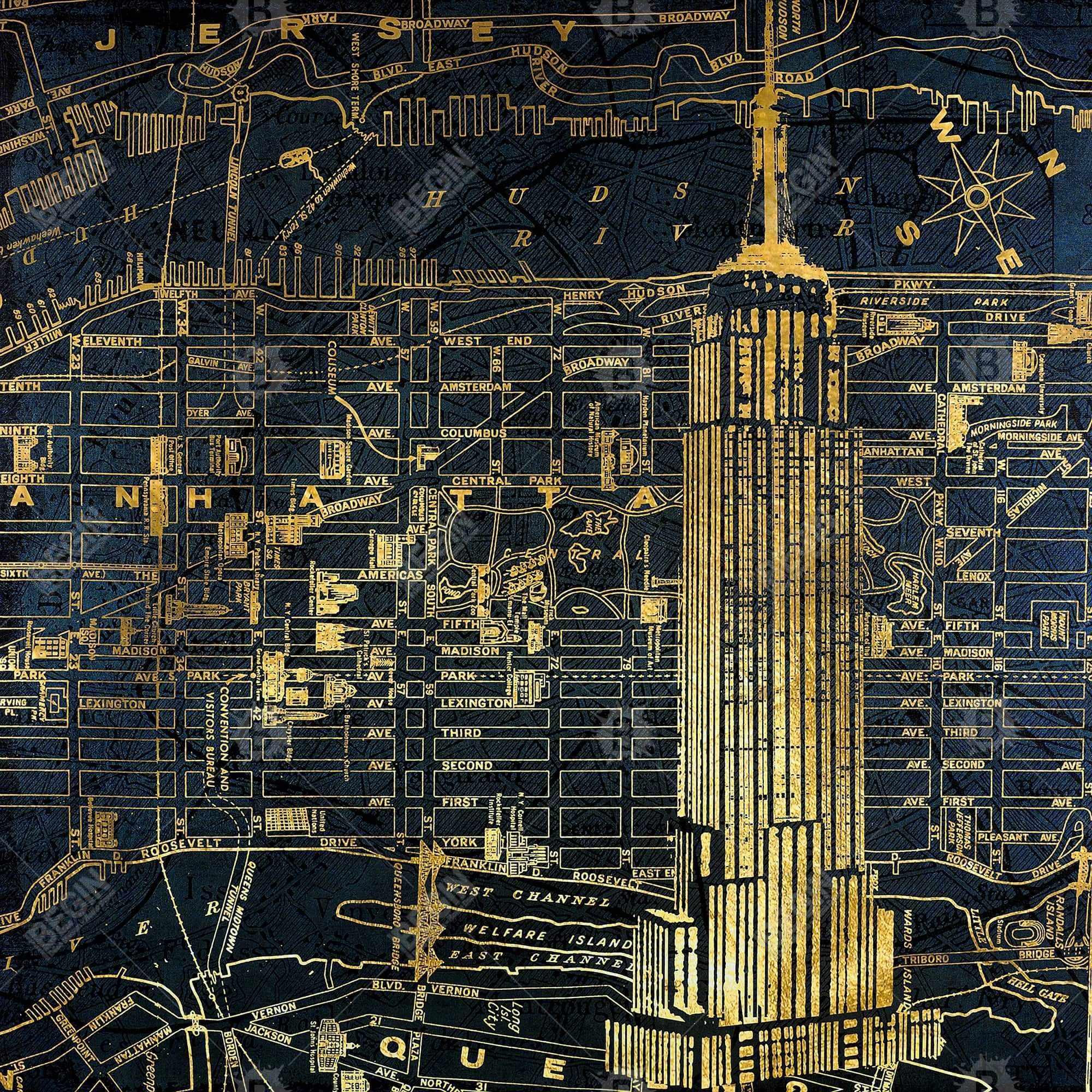 Gold city blue print