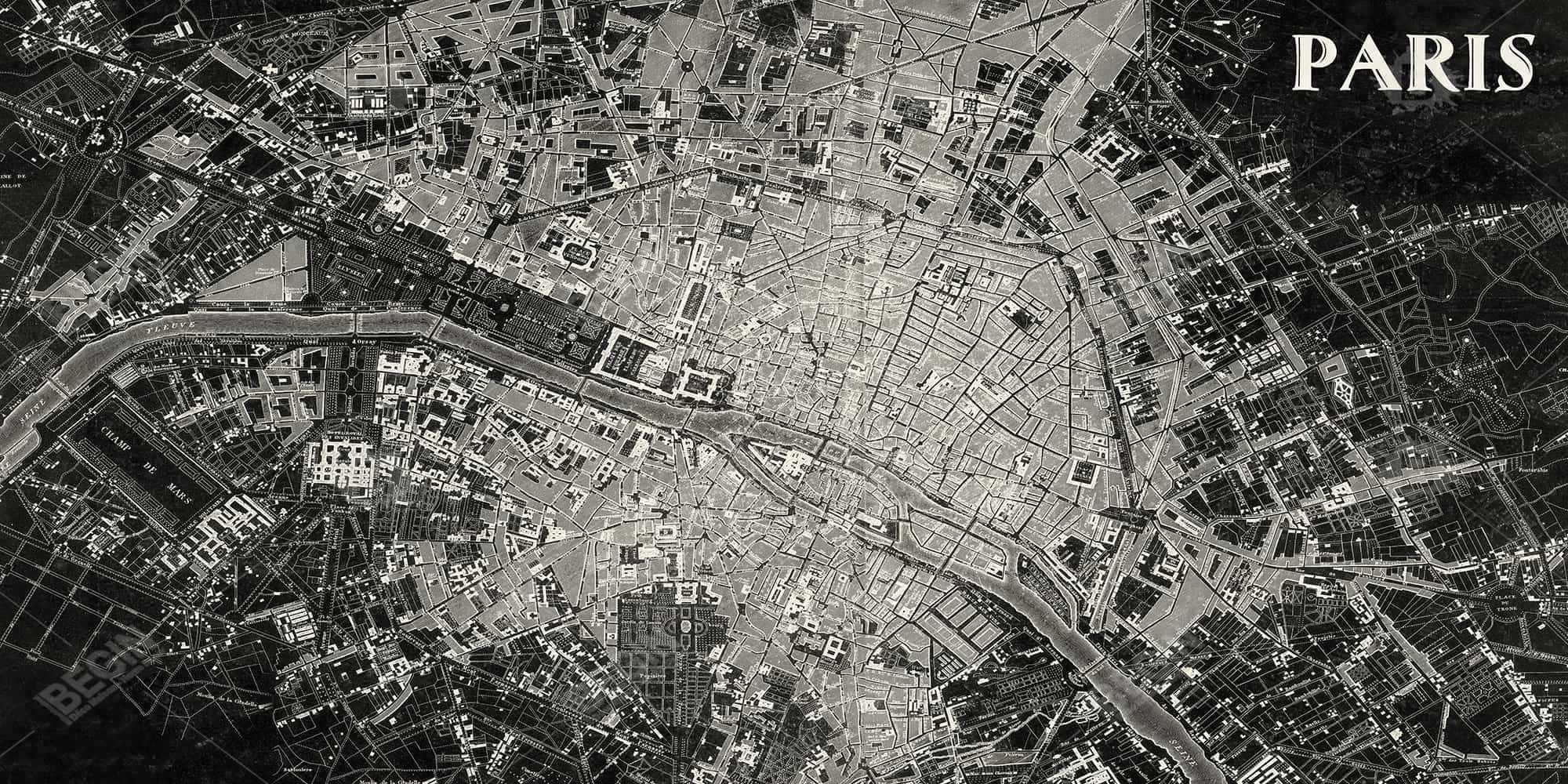 Airplane satellite view