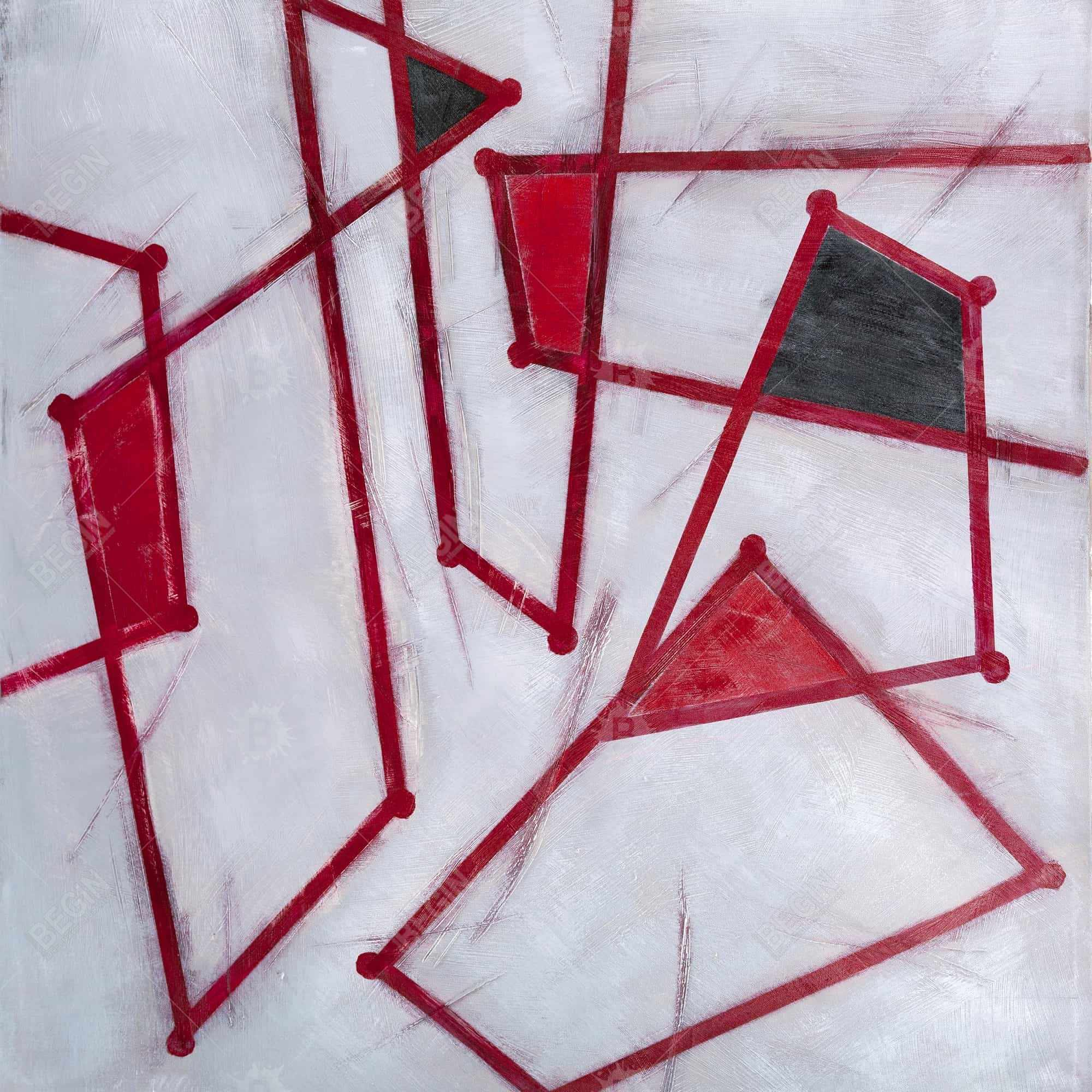 Red outlines shapes