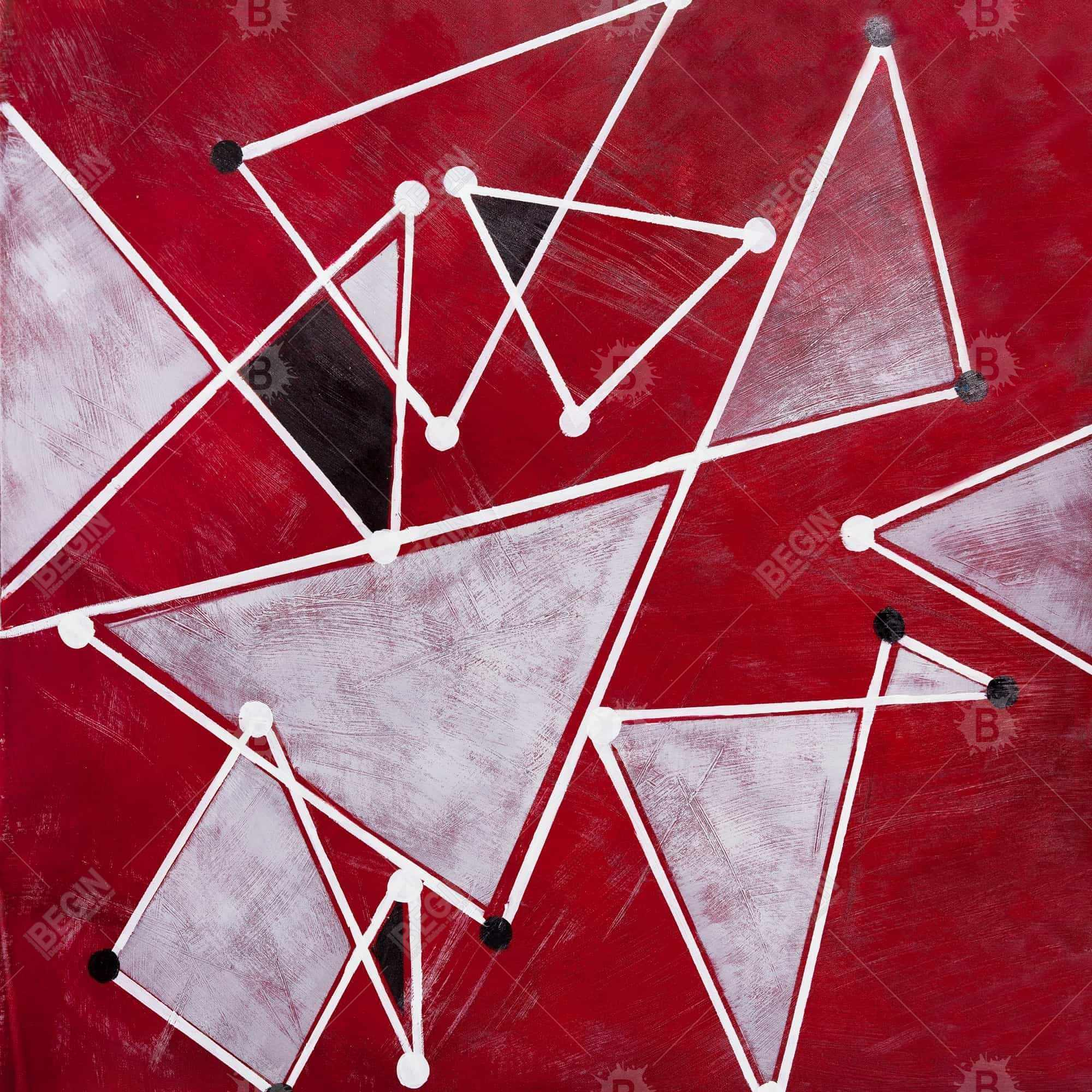 White triangles on red background