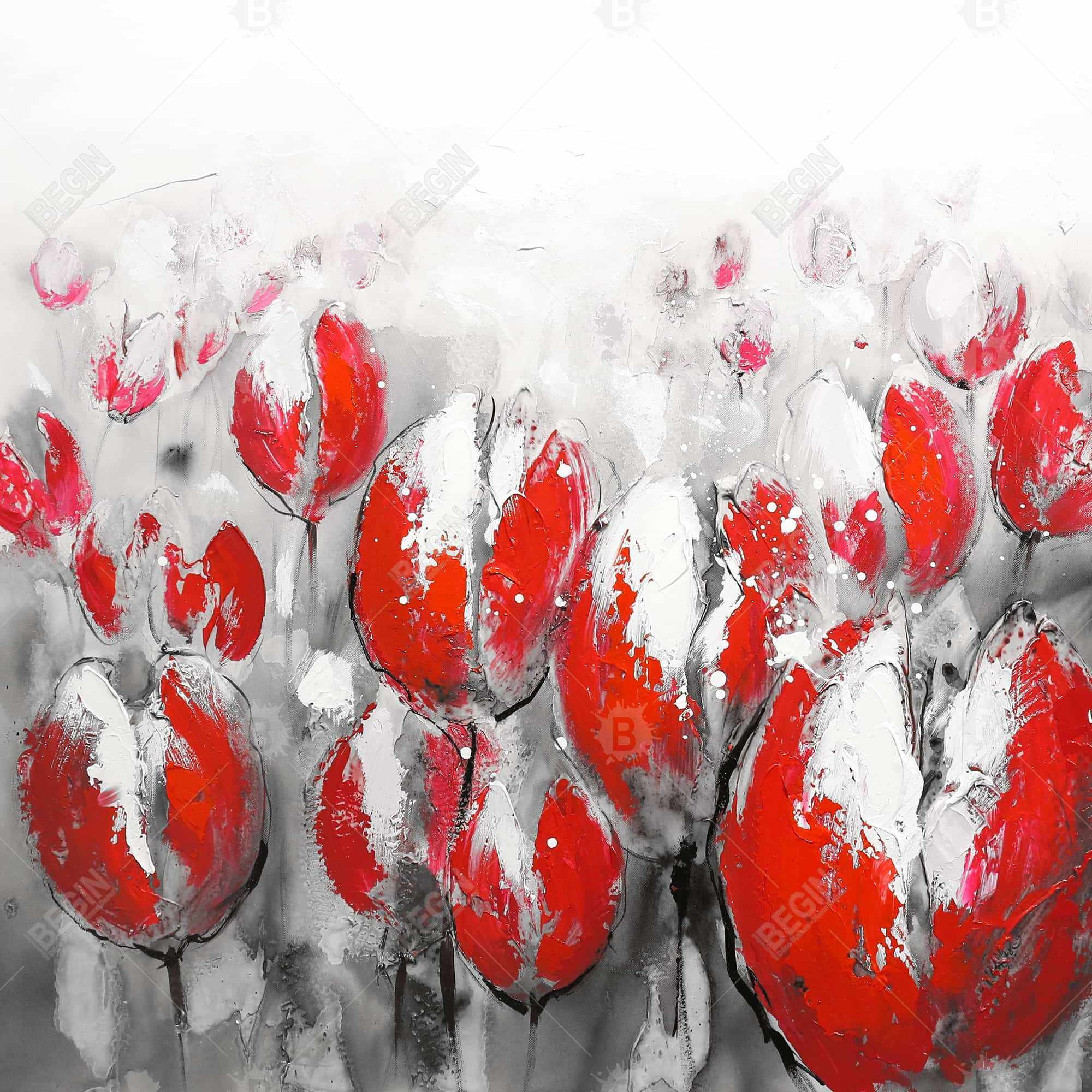 Abstract red tulips